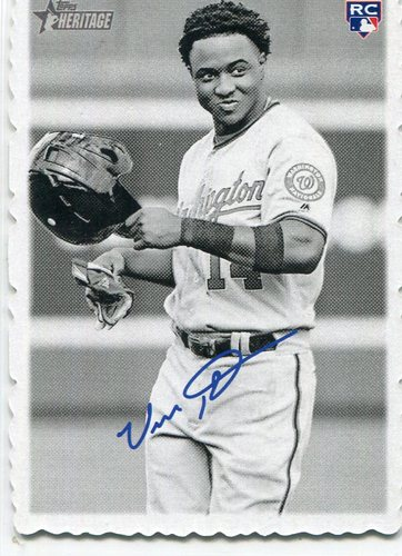 Photo of 2018 Topps Heritage '69 Topps Deckle Edge #25 Victor Robles   Facsimile autograph