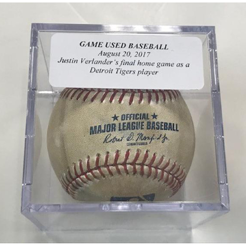 Photo of Game-Used Baseball: Justin Verlander's Final Home Game as a Detroit Tiger