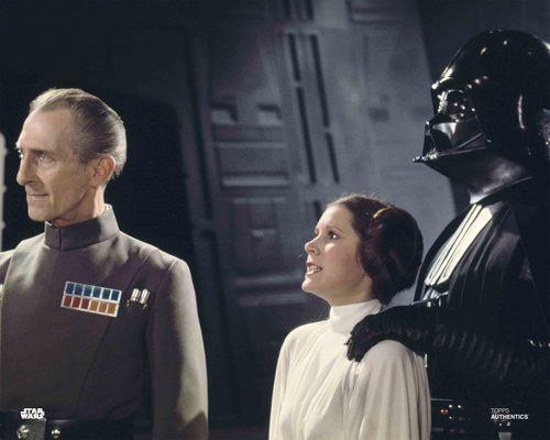 Grand Moff Tarkin, Princess Leia Organa, and Darth Vader