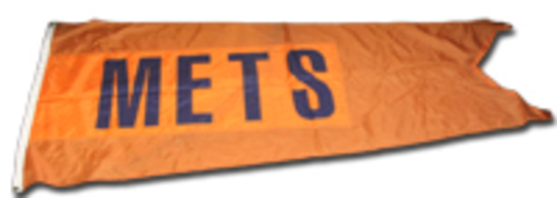 Photo of Wrigley Field Collection -- Rooftop Flag -- Mets