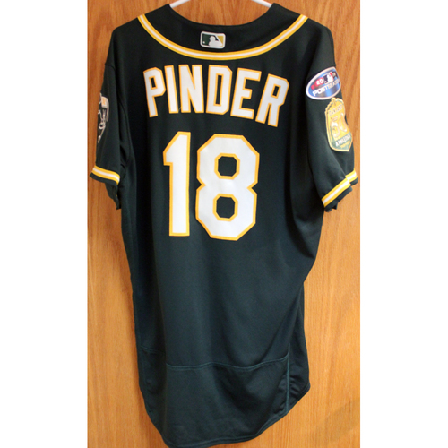 Photo of Game-Used Jersey: Chad Pinder AL Wild Card Game 10/3/18