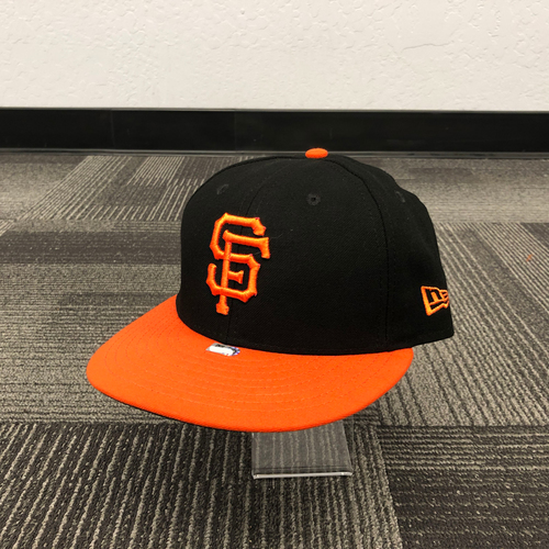 Photo of San Francisco Giants - 2018 Game Used Alternate Orange Bill Cap - worn by #50 Ty Blach - size 7