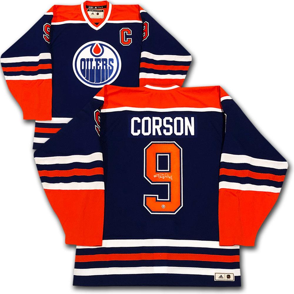 Shayne Corson Autographed Edmonton Oilers adidas Team Classics Authentic Vintage Jersey