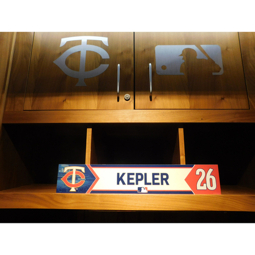 Photo of 2018 Max Kepler Game-Used Locker Name Plate