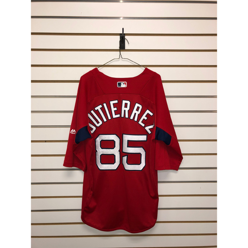 Photo of Laz Gutierrez Team-Issued Home Batting Practice Jersey