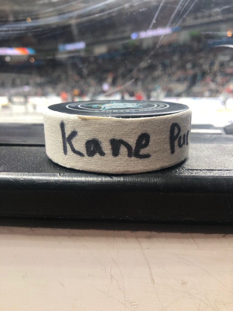 Patrick Kane Chicago Blackhawks Central Division Gatorade NHL Puck Control Event-Used Puck
