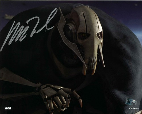Matthew Wood As General Grievous 8x10 Autographed In Silver Ink Photo