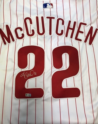 Photo of Andrew McCutchen Autographed Phillies Authentic Jersey