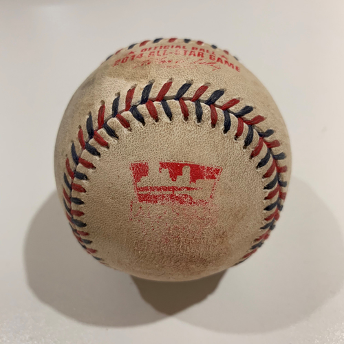 Photo of 2014 All Star Game - Game Used Baseball - Batter: Chase Utley Pitcher: Chris Sale - Hit By Pitch
