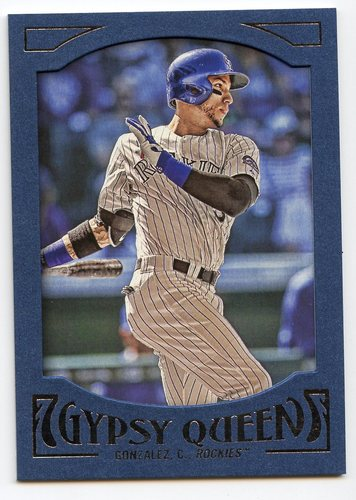 Photo of 2016 Topps Gypsy Queen Framed Blue #6 Carlos Gonzalez