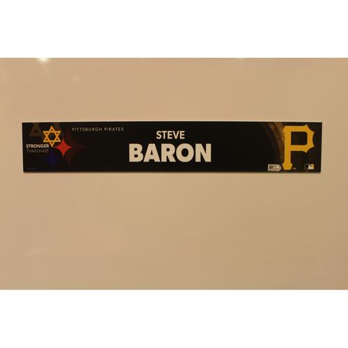 2019 Game Used Locker Nameplate - Steve Baron