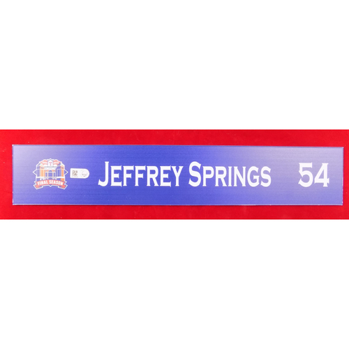 Final Season Game-Used Locker Tag - Jeffrey Springs - 9/13/19 vs OAK