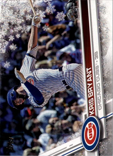 Photo of 2017 Topps Walmart Holiday Snowflake Metallic #HMW1 Kris Bryant