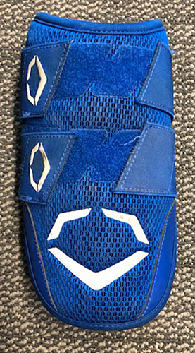Photo of Javier Baez Team-Issued Elbow Guard -- 2019 Season