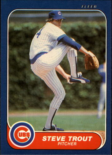 Photo of 1986 Fleer #384 Steve Trout