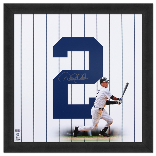 Photo of Derek Jeter Autographed 18x18 Framed Photo