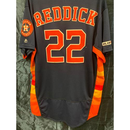 Photo of 2019 Josh Reddick Game-Used Navy Alt Jersey Size 46
