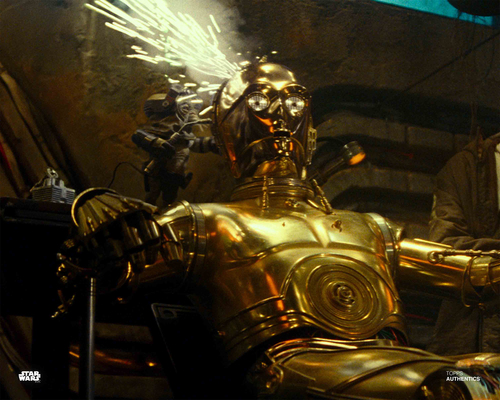 C-3PO and Babu Frik