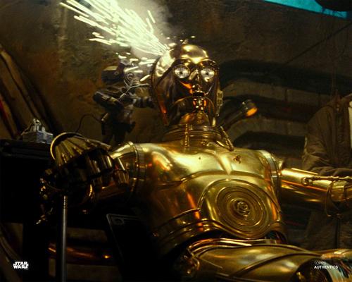 C-3PO and Babu Frik