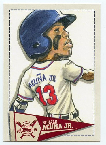 Photo of 2019 Topps Big League Star Caricature Reproductions #SCRRA Ronald Acuna Jr.