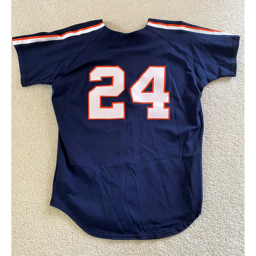 Photo of Travis Fryman #24 Detroit Tigers Batting Practice Jersey (NOT MLB AUTHENTICATED)
