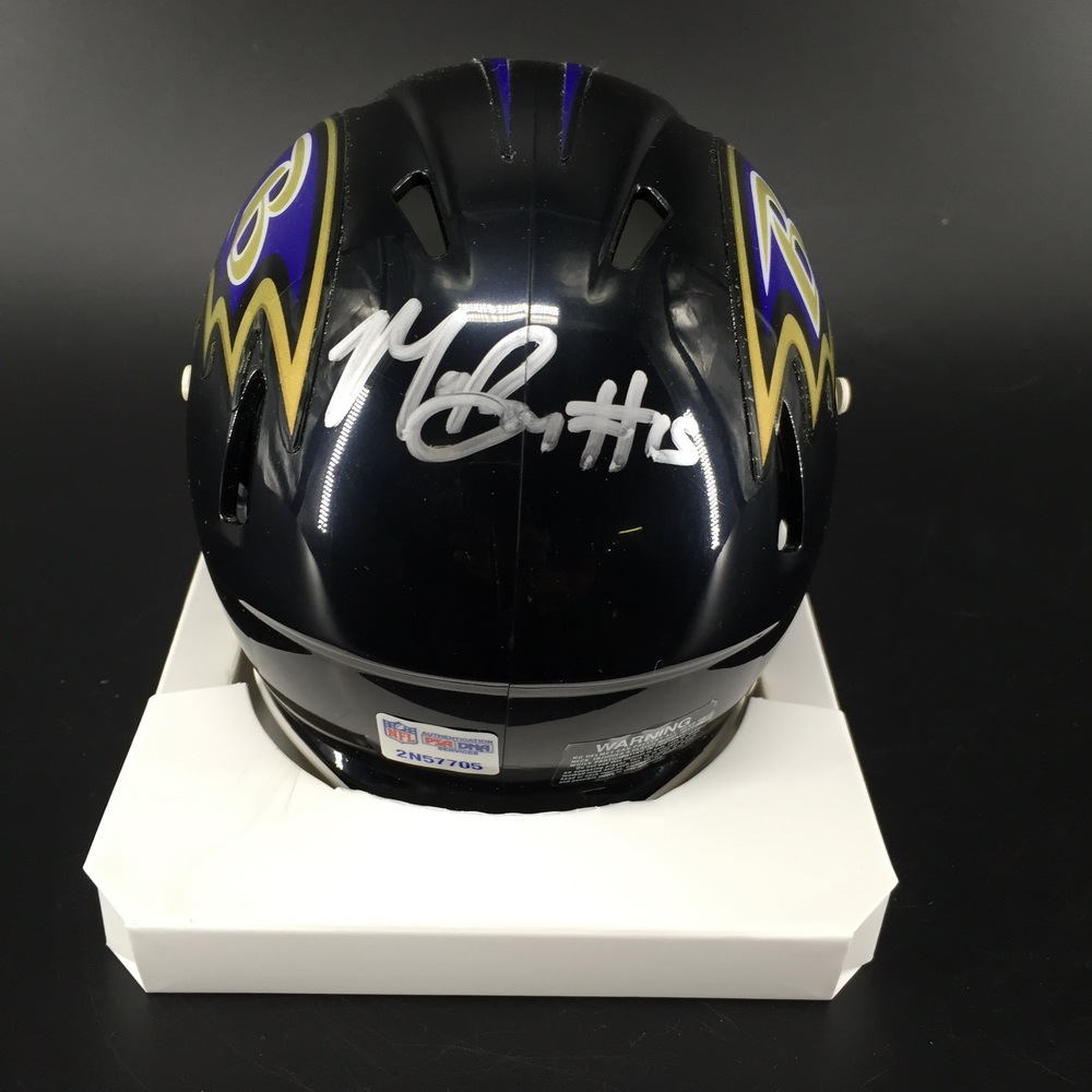 NFL - Ravens Marquise Brown Signed Mini Helmet