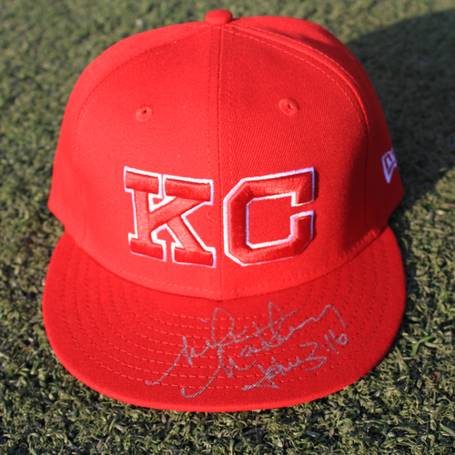 Photo of Autographed Monarchs Cap: Mike Matheny (STL @ KC 9/22/20)