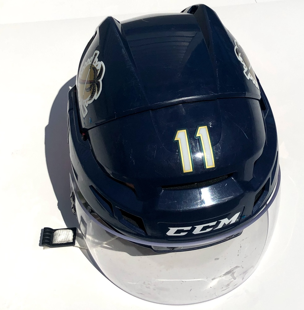 #11 Jonathan Huberdeau Game Used Helmet - Autographed - Florida Panthers
