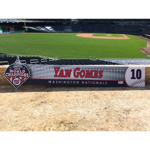 Photo of Yan Gomes Game-Used 2020 Locker Tag