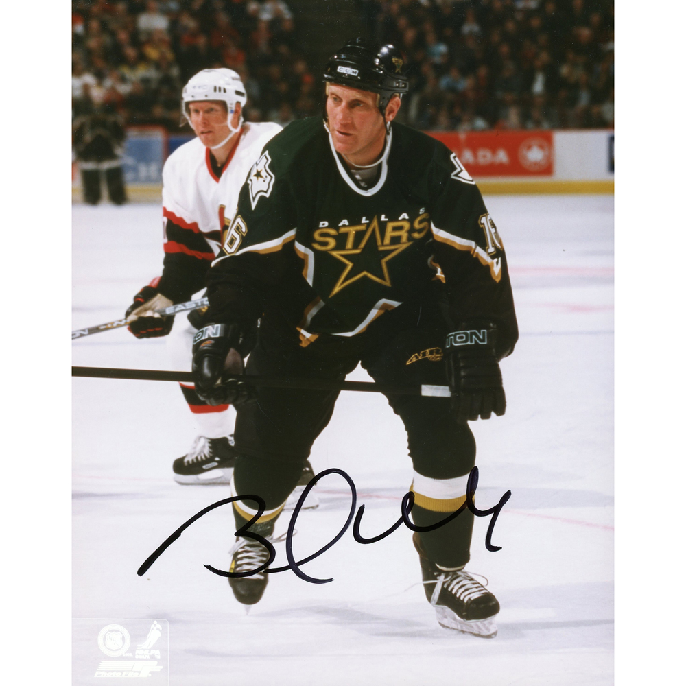 Brett Hull Dallas Stars Autographed 8'' x 10'' Player Skating Behind Photograph