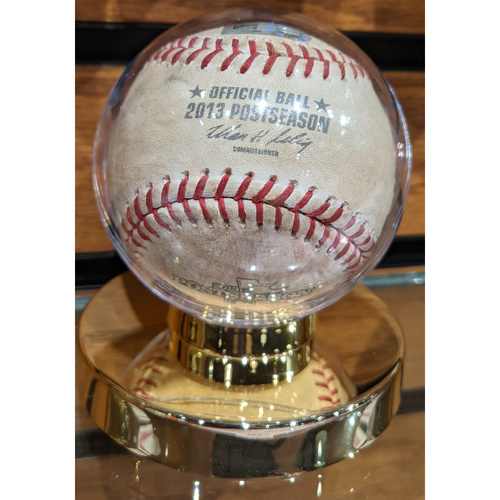 Photo of 2013 ALCS Game 6 Detroit Tigers at Boston Red Sox October 19, 2013 Game Used Baseball