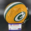 PCC - Packers Corey Linsley Signed Proline Helmet