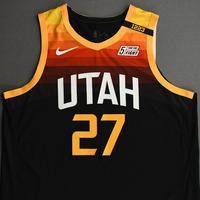 Rudy Gobert - Utah Jazz - Game-Worn City Edition Jersey - Recorded a Double-Double - 2020-21 NBA Season
