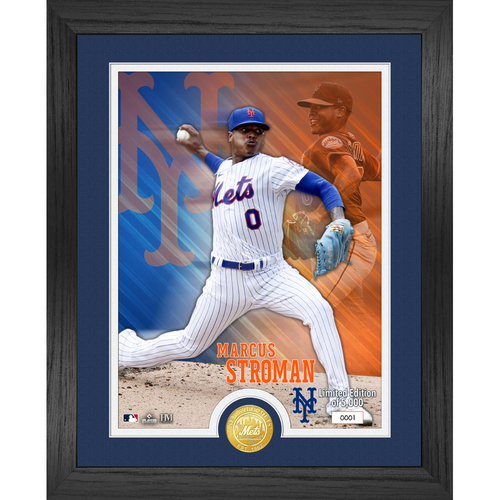 Photo of Serial #1! New York Mets Marcus Stroman Bronze Coin Photo Mint