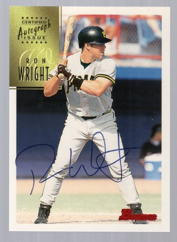 Photo of 1997 Bowman Certified Blue Ink Autographs #CA88 Ron Wright