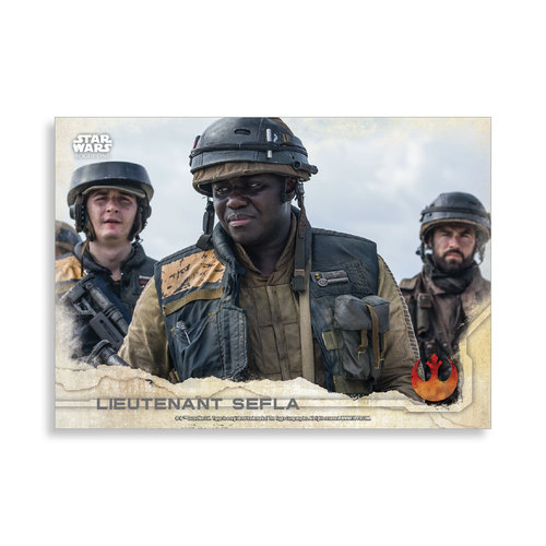 Lieutenant Sefla 2016 Star Wars Rogue One Series One Base Poster - # to 99