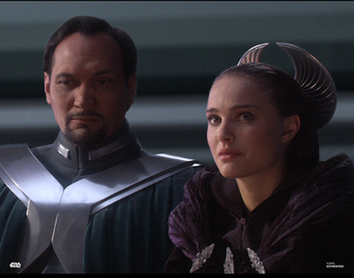 Bail Organa and Padme Amidala