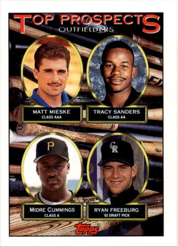 Photo of 1993 Topps #616 Matt Mieske/Tracy Sanders/Midre Cummings RC/Ryan Freeburg