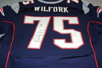 PATRIOTS - VINCE WILFORK SIGNED AUTHENTIC PATRIOTS JERSEY - SIZE 52