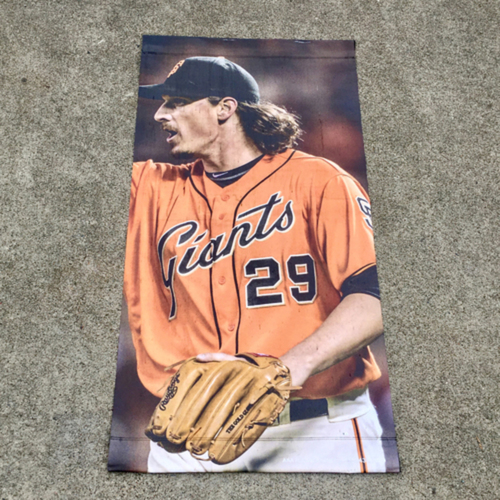 Photo of San Francisco Giants - MLB Authenticated 2017 Jeff Samardzija Street Banner