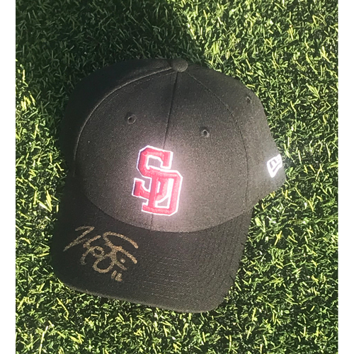 Photo of Max Stassi Autographed and Game-Used Stoneman Douglas Eagles Cap