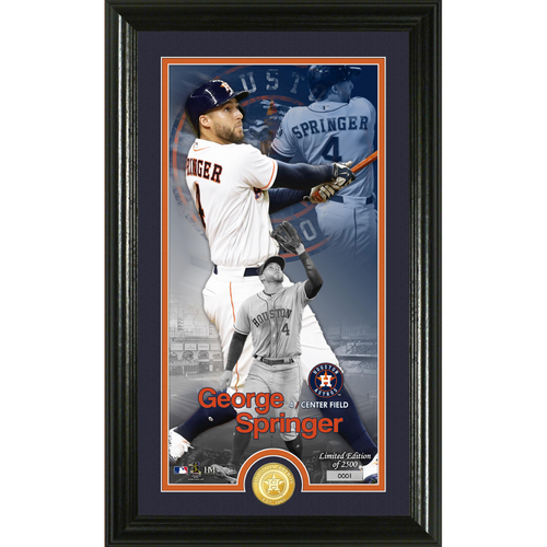 Photo of George Springer Supreme Bronze Coin Photo Mint