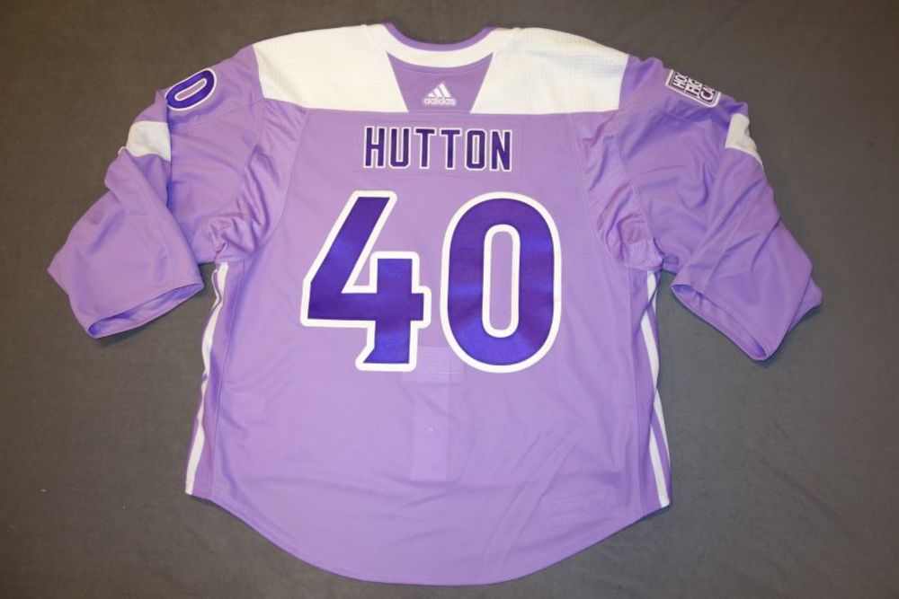 the best attitude d6f1f bfbba Carter Hutton 2018 Buffalo Sabres Hockey Fights Cancer ...
