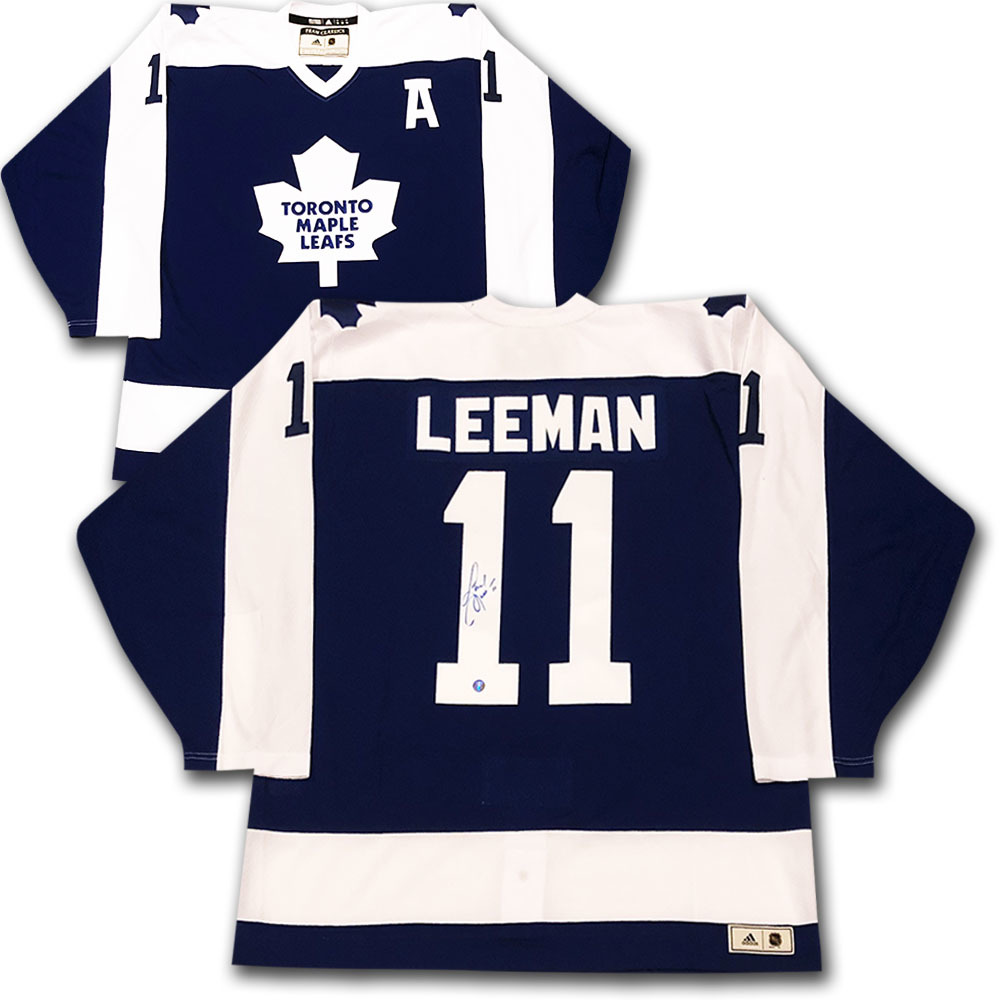 Gary Leeman Autographed Toronto Maple Leafs adidas Team Classics Authentic Vintage Jersey