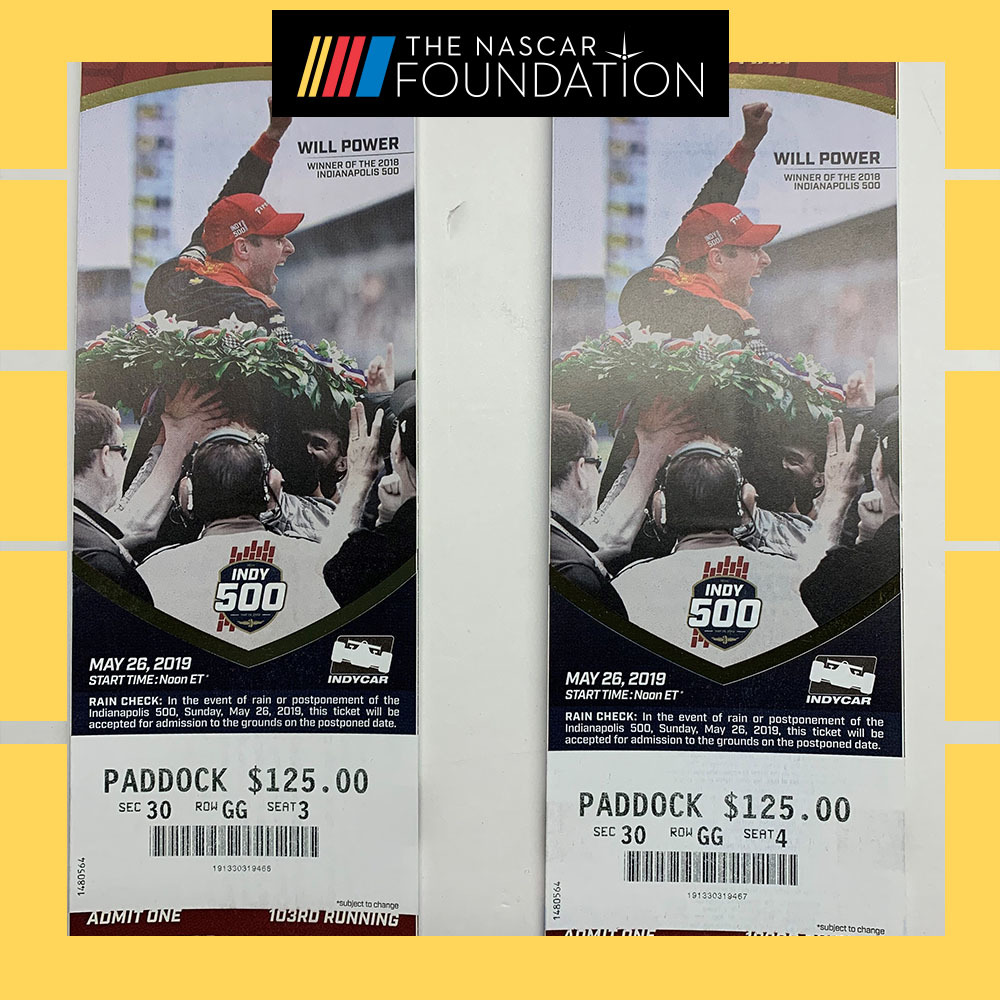 2019 Indianapolis 500 Paddock Tickets!