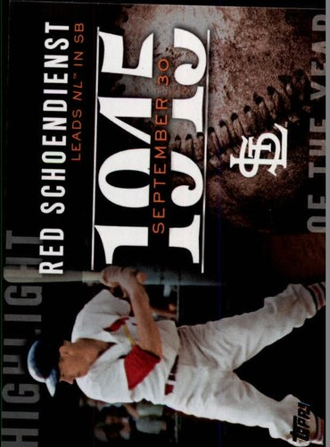 Photo of 2015 Topps Highlight of the Year #H67 Red Schoendienst UPD