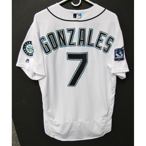 Photo of Seattle Mariners 2019 Marco Gonzales Game-Used Jersey - Edgar Martinez Hall of Fame Celebration Weekend - August 9-11