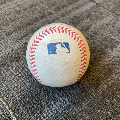 Photo of 2019 Game Used Baseball used on 9/10 vs. Pittsburgh Pirates - B-1: Mitch Keller to Brandon Crawford - RBI Single to LF (Stephen Vogt Scores)
