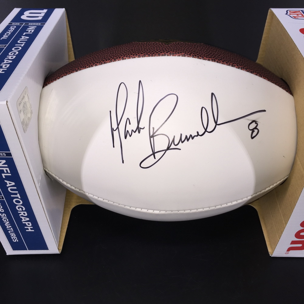 NFL - Jaguars Mark Brunell Signed White Panel Football