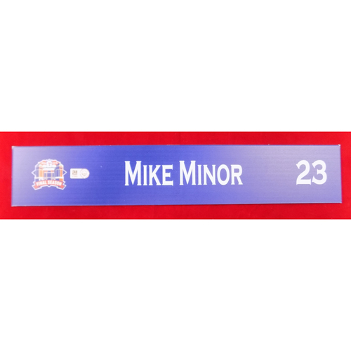 Photo of Final Season Game-Used Locker Tag - Mike Minor - 9/13/19 vs OAK